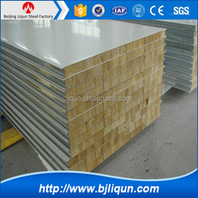ISO certificated Color steel sandwich panel , rockwool sandwich panel for wall