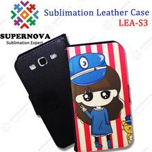 Sublimation leather case for samsung galaxy s3 i3900