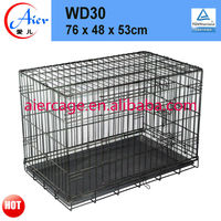 Factory supply metal folding dog crate