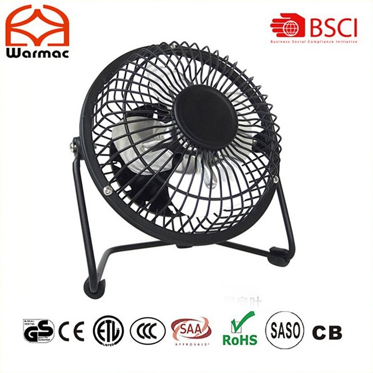 4 inch USB Mini Fan DC 5V 2.5W for promotion use , usb mini fan