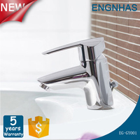 Quality guaranteed tap hot cold mixer stainless steel basin faucet Sanitary Ware supplier