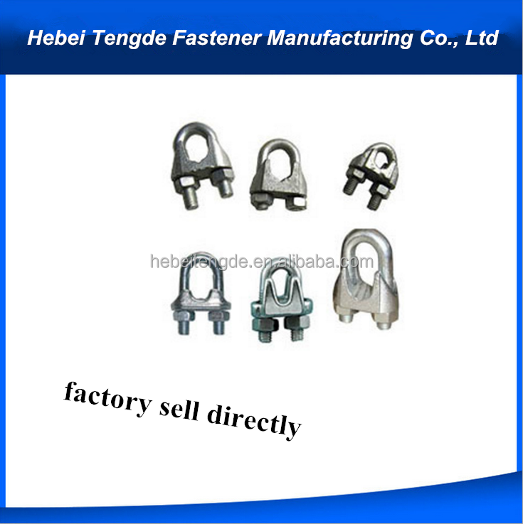 Polished die cast stainless steel clamp stainless clip adjustable wire rope clamp