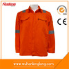 Hi Vis Fluorescent Safety Work Jacket with Reflective Stripes