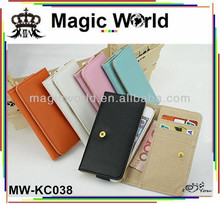 For i phone 4s leather wallet shell