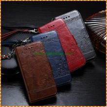 Top Quality Oil Wax Pattern Business Style Wallet With Card Slot Leather Case For Iphone 6 6s