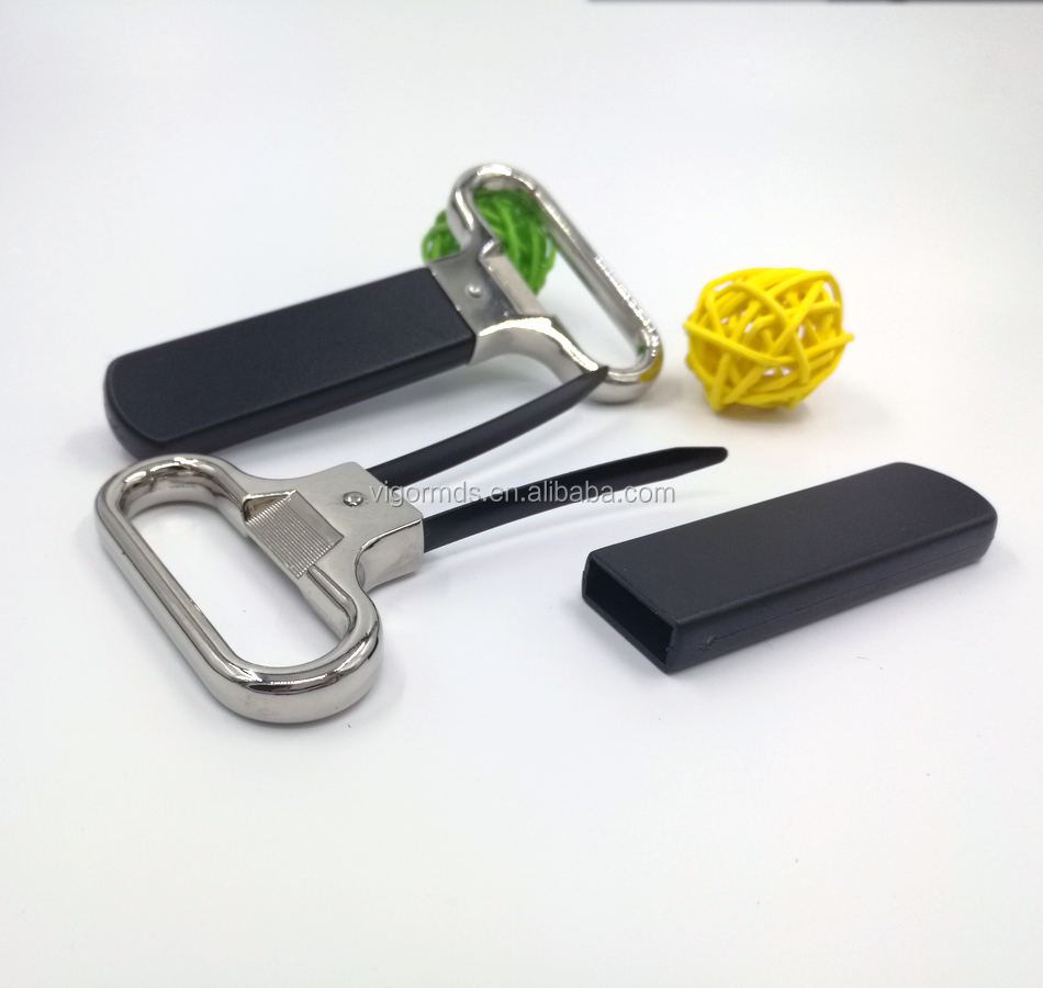 (OP-17400) Simple Style Ice Tongs Build inside Handle Aluminum Alloy Bottle Opener
