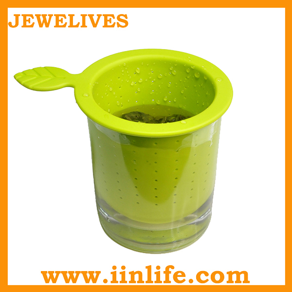 Promotional gift novelty tea strainer slicone