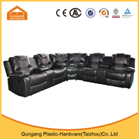 U shape brown leather recliner sofa lazy boy sectional recliner sofa