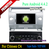 Car pc android dvd with can-bus built in igo map for Citroen C4 /car dvd player gps Android 4.4. OS,bluetooth,DVD,Quad-core