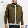 new design khaki collared neck custom military bulk wholesale jacket