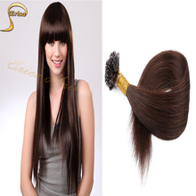 Hot Selling Fusion Prebond U Tip Keratin Hair Extension 0.5g/strands Nail Hair Extensions 100s/pack 28 Colors U Tip Hair Human