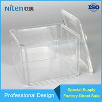 New Clear Cotton Swab Box Acrylic Q-tip Storage Holder Cosmetic Makeup Case Make up Tools Storage Boxes With Lid