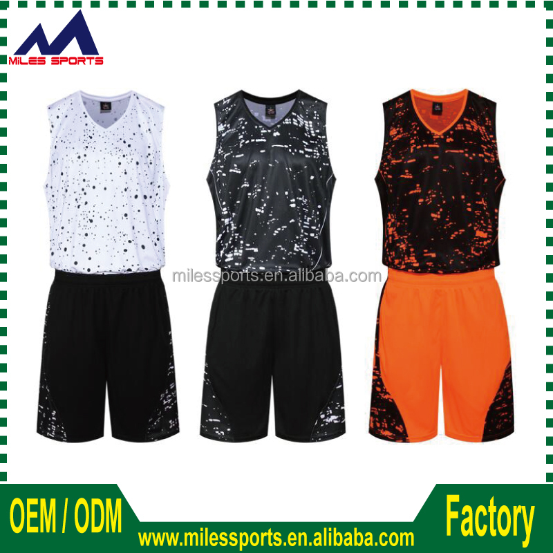 custom logo design college basketball uniform 100% Polyester sublimation basketball jersey