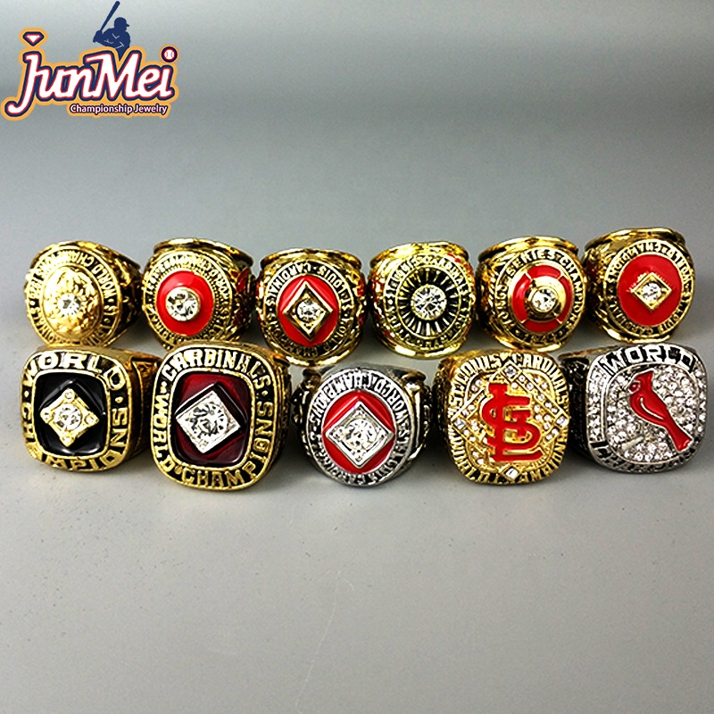 Yiwu Junmei Factory store St. Louis Cardinals 11 pcs baseball world series championship <strong>rings</strong> for US businessmen