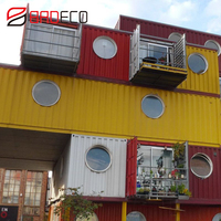 Family Living Luxury Home 20 / 40Ft Shipping Prefabricated Container House