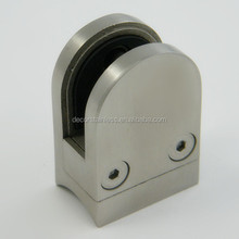 Stainless steel stair handrail post glass clamp