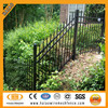 High quality Australia black powder painting decorative iron tubular fence