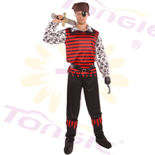 Adult Gay Men Retal Carnival Party Dress Pirate Cosplay Costumes