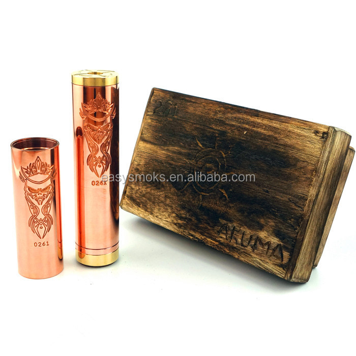 akuma mod copper mechanical mod Akuma mod fast delivery with good quality