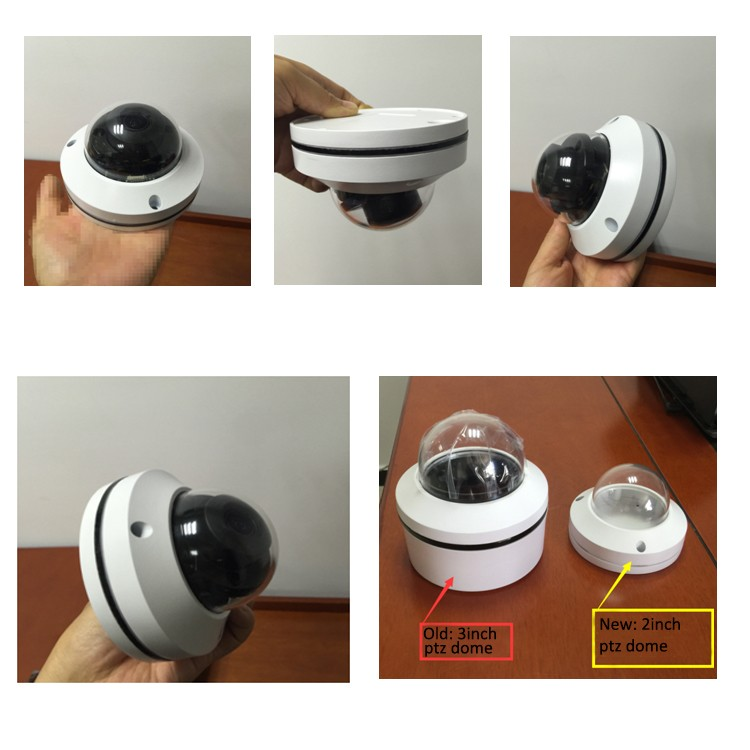 "AHD CVI TVI Analog 4 in 1 Metal Dome 2"" Mini PTZ Camera 3x Zoom"