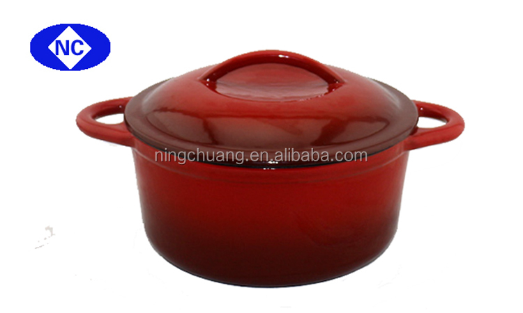 french cast iron enamel pot cookware