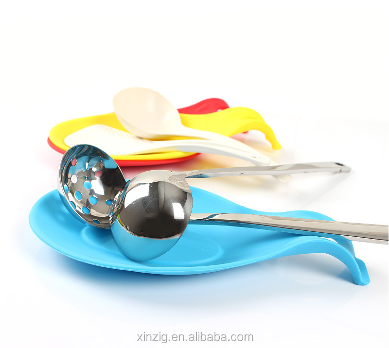 Factory price silicone spoon holder food grade material spoon holder