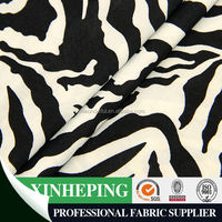 FDY printed black and white knitting fabric/ 4 way stretch lycra bikini fabric