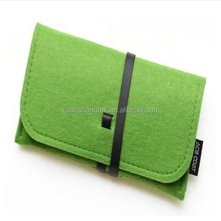 Biodegradable Wool Felt Cell Phone Case/Mobile Phone Bag/Mobile Phone Sleeve