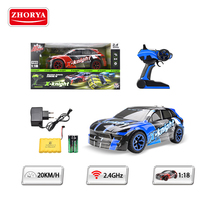 Zhorya 2.4G 1:18 scale 20km/h speed rechargeable power wheels plastic crazy rc realistic toy car for big kids