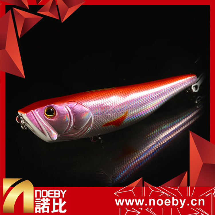 NOEBY 100mm 18g twitching top water brass lure bodies fishing lure eyes