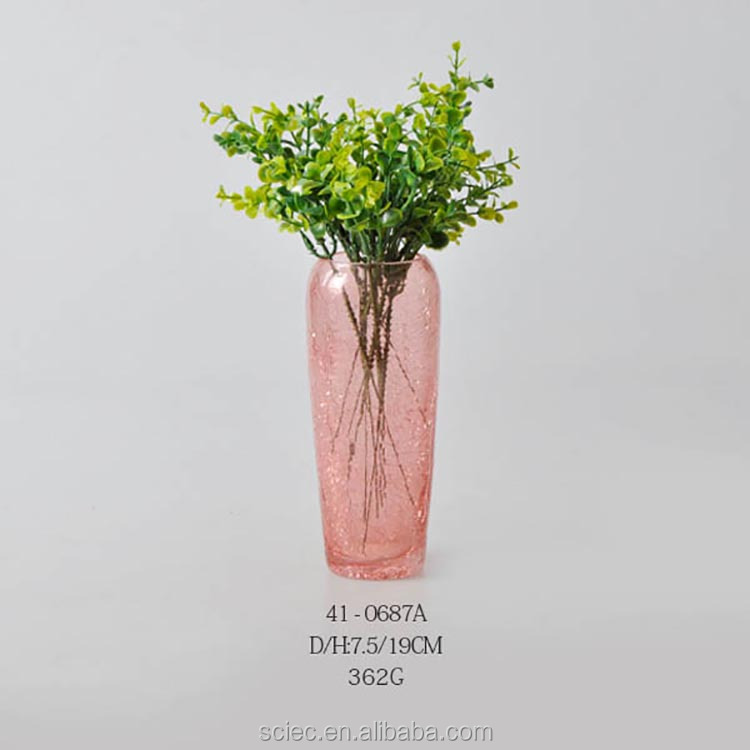 pink handmade painted glass vase decorative wholesale