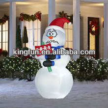 Fashion lovely giant inflatable christmas snowman