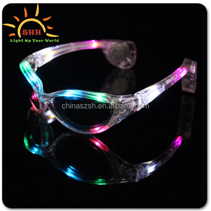 2016 led flashing sunglasses for party favor with 10 led lights