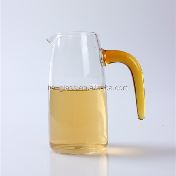 300ml glass wine decanter glass measuring cup with orange handle