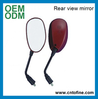 Factory direct red motorcycle spare parts rear view mirror