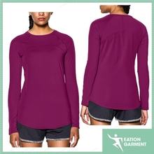 Women's soft lightweight dri fit running long sleeve sports shirt