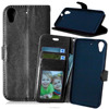 Black Smooth For Htc Desire 626 Flip Wallet Leather Case Cover 8 Colors