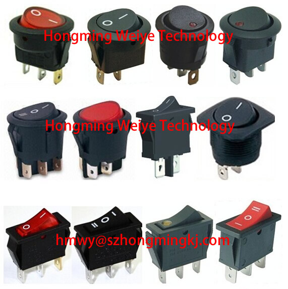 20A high current lighted rocker switch with 4pin 6pin