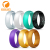 Medical Grade Logo Custom Silicone Rubber Finger Wedding Rings