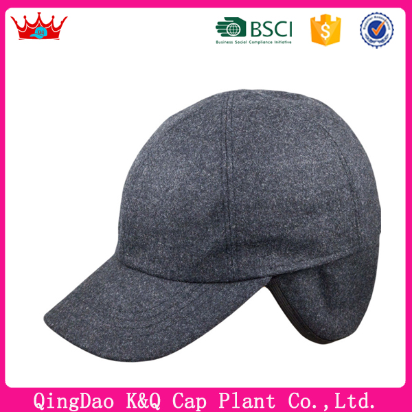 OEM custom cheap high quality blank baseball cap with ear flaps