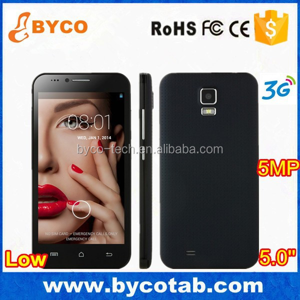 Hot products 5.0inch HD screen 3G Android 4.4 RAM 512MB ROM 4GB Smart moblie phone C5000
