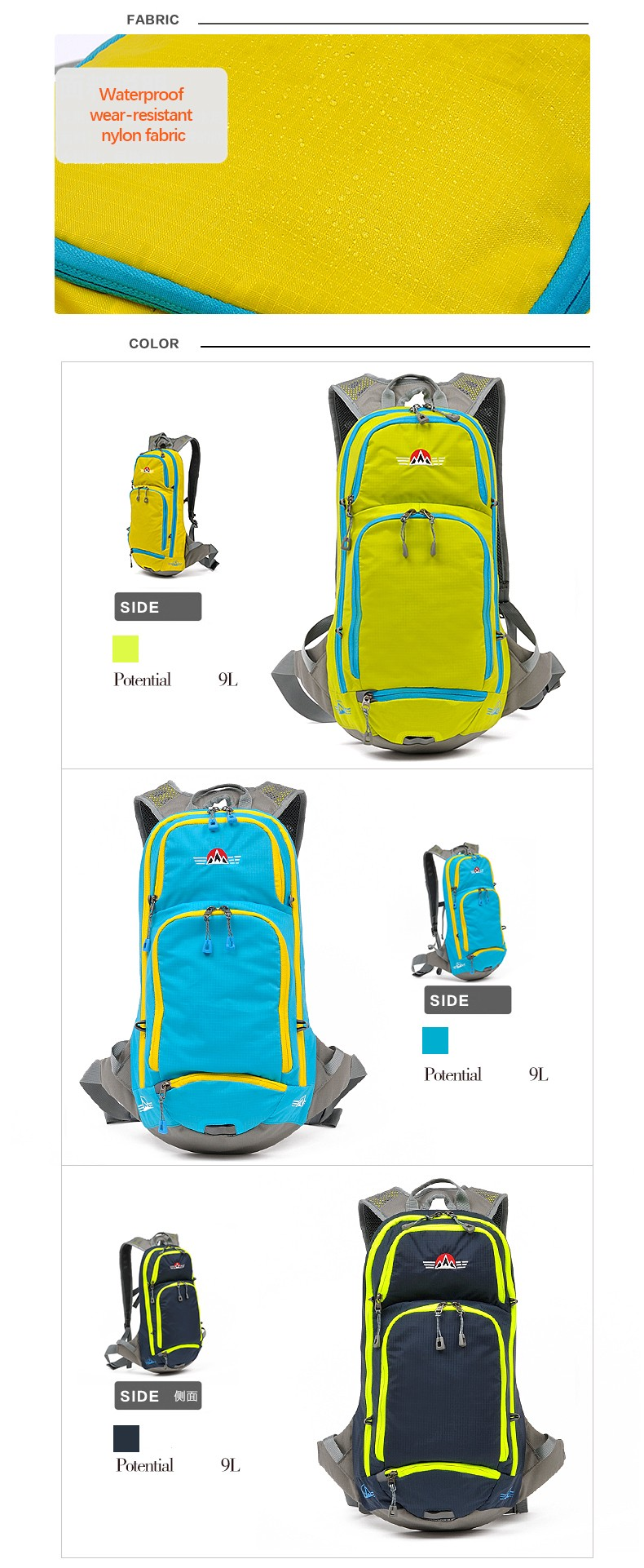 waterproof bicycle bags, riding backpack, traveling bags for cycling