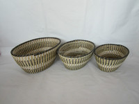 straw storage basket s/3