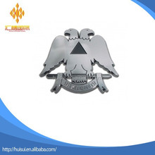 chrome masonic Mason Double-headed eagle Car Emblem