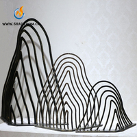 large modern metal abstract art stainless steel Sculpture for garden or public decoration