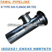 TAWIL BOLTED GLAND SOCKET SPIGOT TEE WITH FLANGED BRANCH