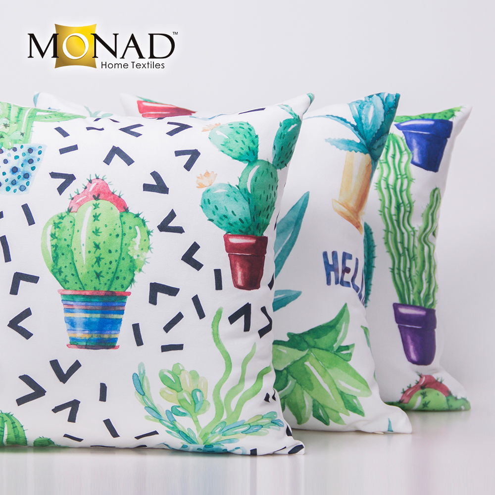 Promotional Desert Botanic Cactus Design Digital Printing Decorative Pillow Case