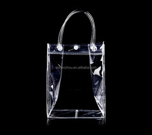 High quality competitive price custom printed travel women handbag clear transparent pvc tote bag