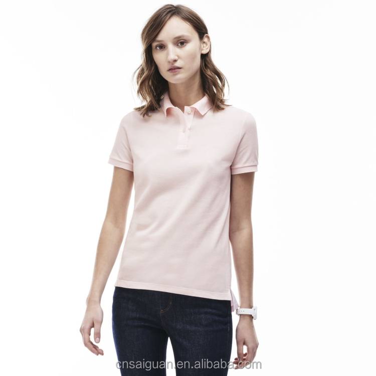 Custom design women polo clothing wholesale cheap women plain polo shirt