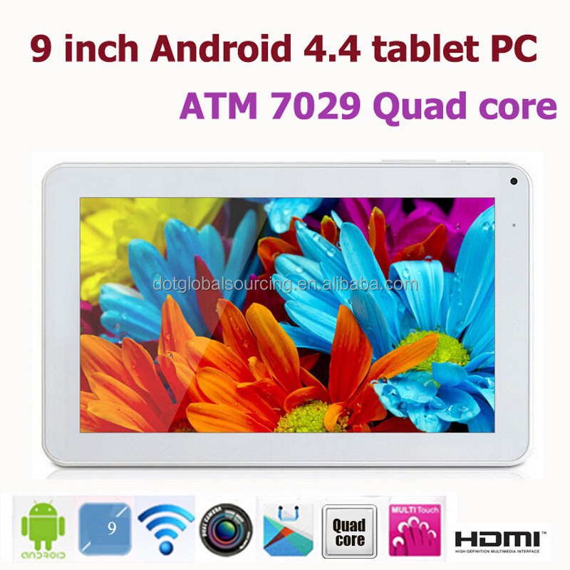 9 inch Rugged Allwinner A33 Quad Core 512MB/8GB Android Smart Pad 4.4.2 WIFI Tablet PC